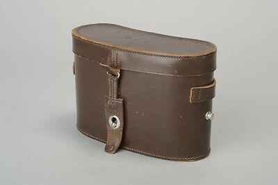 1930's Ross of London Baize Lined Tan Leather Binocular or Field Glass Case. PMW