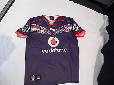 New Zealand Warriors Nrl Rugby League Jersey Large V.g.c