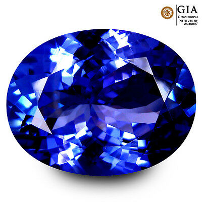 14.91 ct GIA CERTIFIED AAAA+ MAGNIFICENT FIRE OVAL (18 X 14 mm) TANZANITE