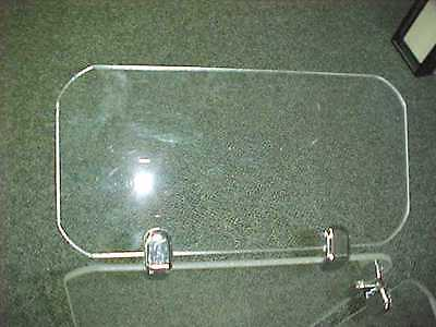 """Deflector Shields 24"""" X 12"""" with 2 chrome connectors for Drum Shield Panels"""