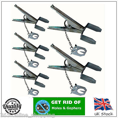 5x SCISSOR MOLE CLAW TRAPS FOR PROFESSIONAL EXCELLENT MOLE PEST CONTROL TRAP