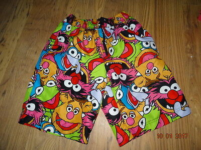 MEN'S DISNEY THE MUPPETS KNEE LENGHT SHIRTS SWIMMING SHORTS size medium IN VGC