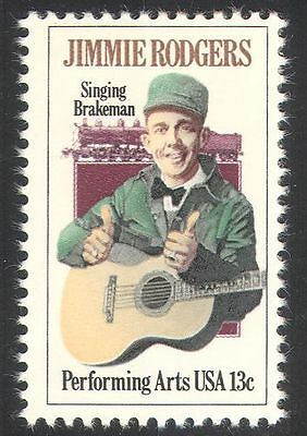 USA 1978 Jimmie Rodgers/Trains/Music/Steam Locomotive/Guitar/People 1v (n33324)