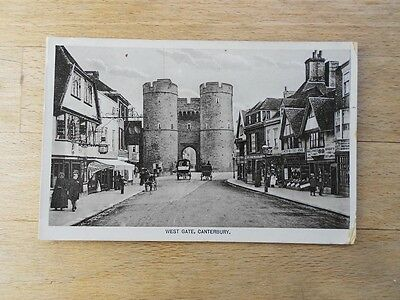 Old postcard Canterbury West Gate, 1915, RP with shops