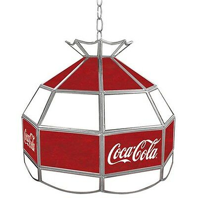Officially Licensed - Coca-Cola® Glass Tiffany Lamp - Vintage - Logo - 16""