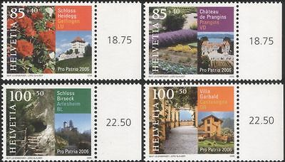 Switzerland 2006 Castles/Flowers/Buildings/Architecture/Cultural Fund 4v n45069