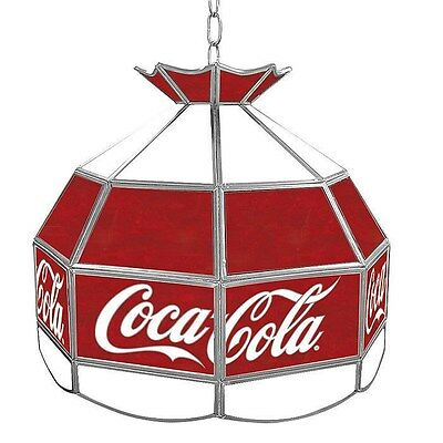Officially Licensed - Coca-Cola® Stained Glass Tiffany Light - Vintage - 16""