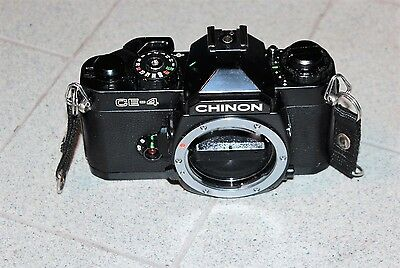 CHINON CE-4 35mm FILM SLR CAMERA BODY WITH ERC FULLY WORKING