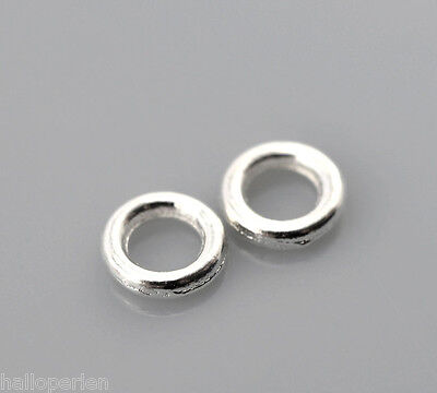 """500PCs Silver Plated Soldered Closed Jump Rings 4mm(1/8"""") Dia."""
