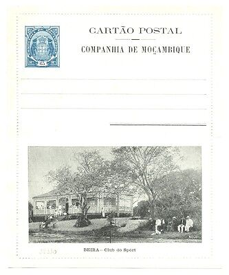 PORTUGAL COLONY MOZAMBIQUE 65 Rs. ILLUSTRATED LETTER CARD BEIRA  VF  @2