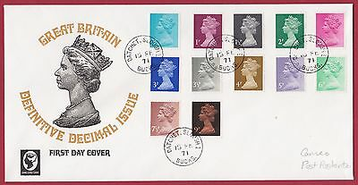 GB - First Day Cover with Definitive Decimal issues. 1/2p to 9p 15 FEB 1971