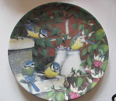 Coalport Fine China Collectors Plate / Top Of The Morning - Garden Visitors