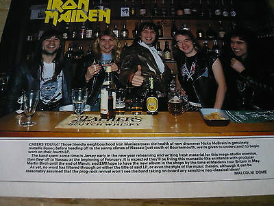 Iron Maiden - Magazine Cutting (Full Page Photo W/text) (Ref N1)