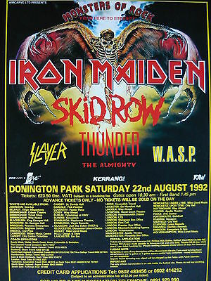 Iron Maiden/w.a.s.p. - Magazine Cutting (Full Page Advert) (Ref Ka1)