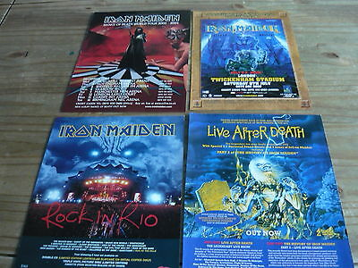 Iron Maiden - Magazine Adverts Cuttings Collection (Ref 3E)