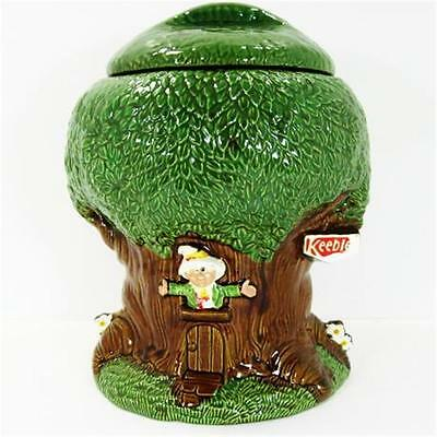 Keebler Treehouse Cookie Jar Closed Mouth Ernie The Elf