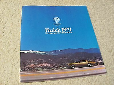 1971 Canadian Buick Sales Brochure In French..