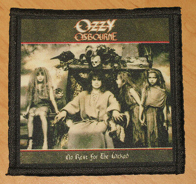 """OZZY OSBOURNE """"NO REST FOR THE WICKED"""" silk screen PATCH"""