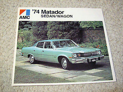 1974 Canadian Amc Matador Sales Brochure..