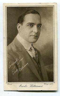 Earle Williams - American silent movie actor - old Cinema Chat collectors' card