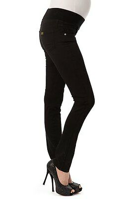 PIETRO BRUNELLI Skinny Maternity Jeans Made in Italy Black Size XS