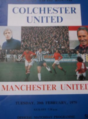 Colchester United  V Manchester United Fac 5Th Round  1979
