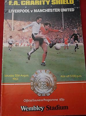 Liverpool  V Manchester United Charity Shield  1983
