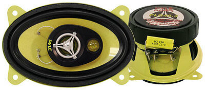 "Pyle Gear 4x6"" Inch Oval 360w Coaxial Three Way Pair Of Car Door Shelf Speakers"