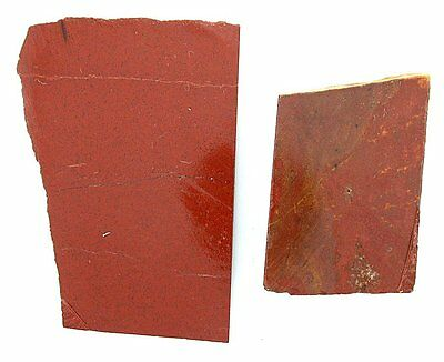102.9 Gram Two Solid Brick Red Jasper Cab Cabochon Slab Gem Gemstone Rough RJS2