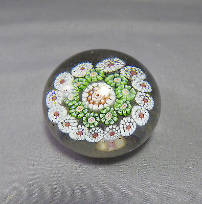 Baccarat paperweight Miniature Concentric Millefiori c1850- French Glass Antique