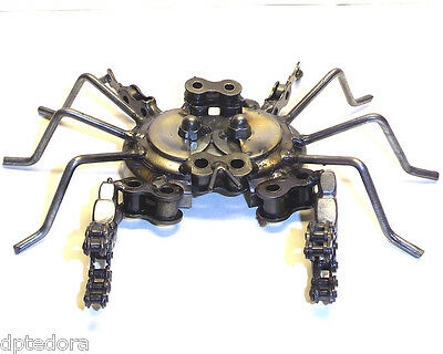 Hand Crafted Recycled Metal Crab Art Sculpture Figurine