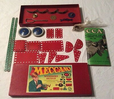 Vintage Meccano Accessory Outfit no2a and Instructions