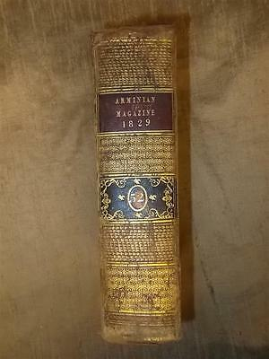 1829 John Wesley Methodist Magazine Leather Bound 12 Portraits