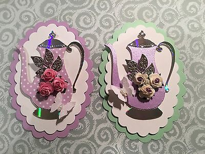 2 Teapot Card Toppers