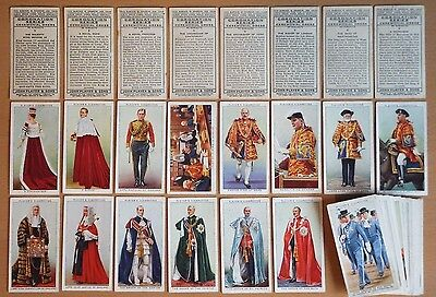 JOHN PLAYER, CORONATION SERIES (Ceremonial Dress) 1937. 48 cards from set of 50.