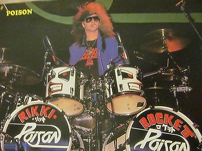 Rikki Rocket, Poison, Yngwie Malmsteen, Double Full Page Vintage Pinup