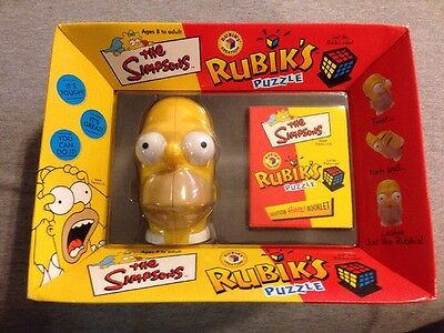 2001 The Simpsons Homer Simpson Head Rubiks Cube Puzzle New In Box