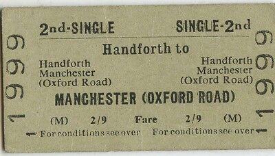 Railway Ticket; BRB. Handforth to Manchester Oxford Rd1964