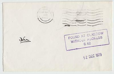 Gb 1979 Cover Found At Glasgow Without Address