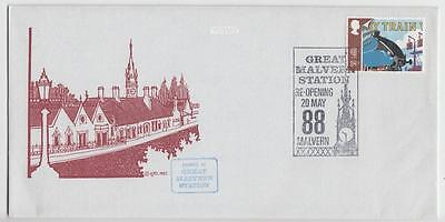 Gb 1988 Illustrated Cover Re-Opening Of Great Malvern Railway Station