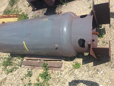 12141-100 Used approximately 200 gallon vertical steel air tank.