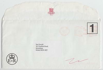Gb 1997 Official Cover + Letter St. James's Palace To Bristol