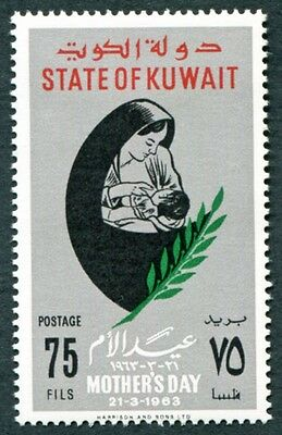 KUWAIT 1963 75f multicoloured SG183 mint MH FG Mothers' Day #W9