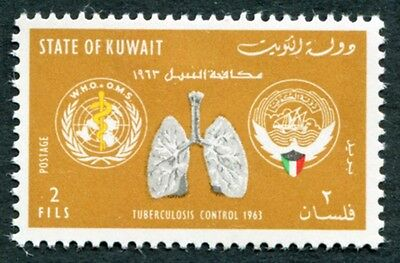 KUWAIT 1963 2f black and yellow-ochre SG195 MH FG WHO Tuberculosis #W9