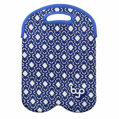 BYO by BUILT NY Two Bottle Neoprene Wine/Water Reusable Tote - Geo Moroccan