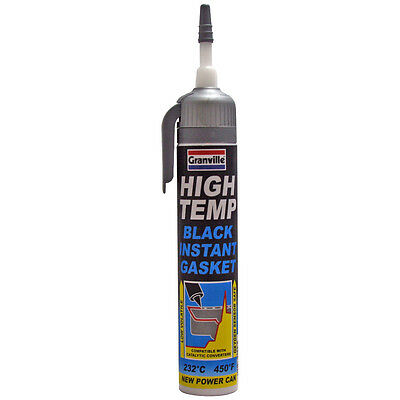 Granville High Temperature Black Instant Gasket Silicone Sealant 200ml
