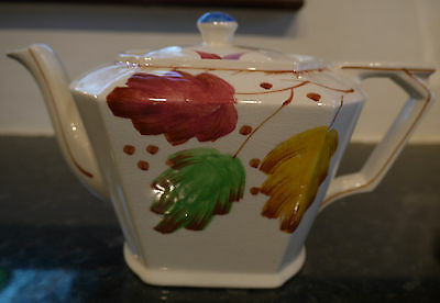 George Clews & Co Art Deco Hand Painted Teapot 1.5 pint