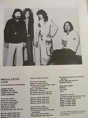 Led Zeppelin, Full Page Vintage Clipping