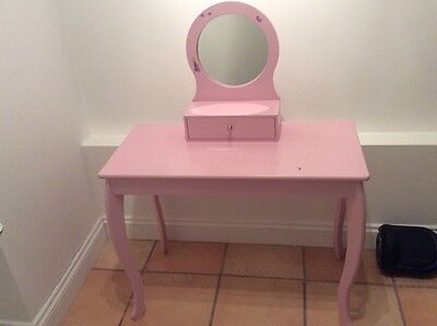 Girls Pink Dressing Table with Mirror
