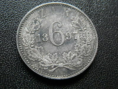South Africa 1897 Sixpence (aVF)